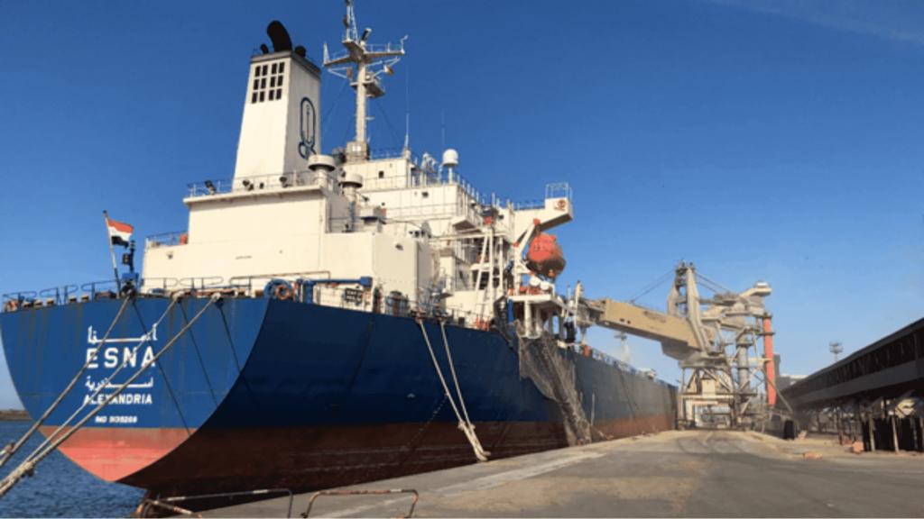 Avril 2021 - chargement par Nord Céréales de 63 000 tonnes de blé à destination de l'Egypte sur le panamax ESNA